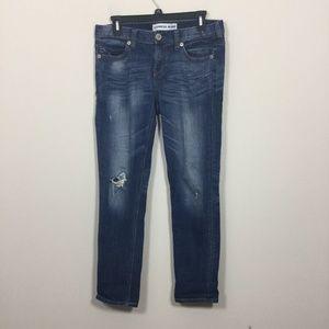 Express Size 0 Distressed Modern Boyfriend Jeans